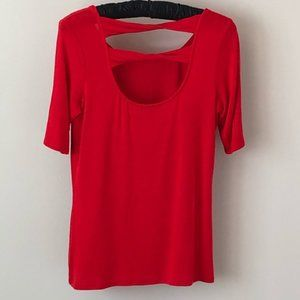 Bordeaux red top with back cut outs